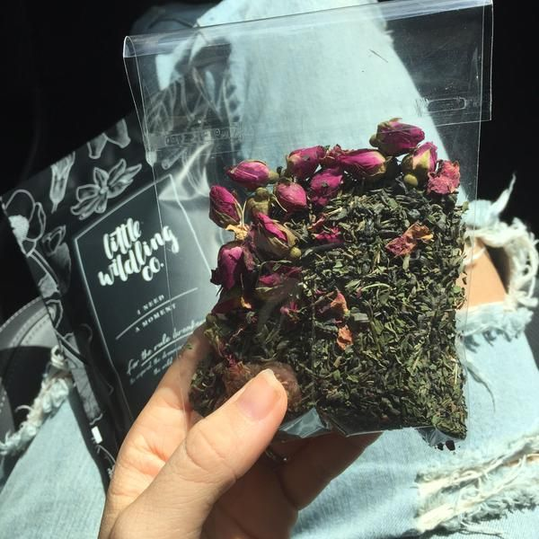 Jasmine green tea, mint + rose
