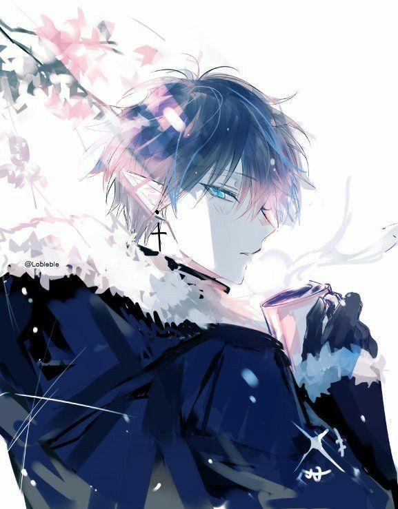 Rhysali Daeror Purewhite Nb They Them Short Dark Blue Hair With Frigid Blue Eyes That Glow Their Skin Is In 2020 Anime Drawings Boy Anime Demon Boy Anime Artwork