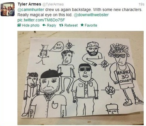 Tyler Armes' drawing of Down With Webster