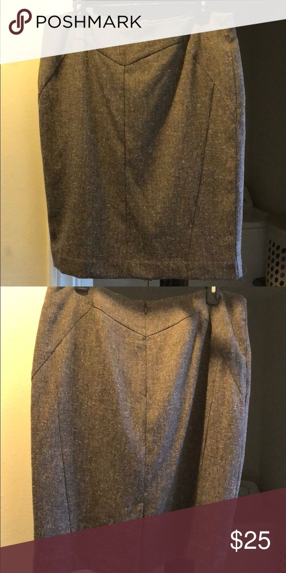 Brown colored pencil skirt Brown pencil skirt size 14 worn literally one time for a baptism in perfectly new conditions no marks, tears or snags! Worthington Skirts Pencil