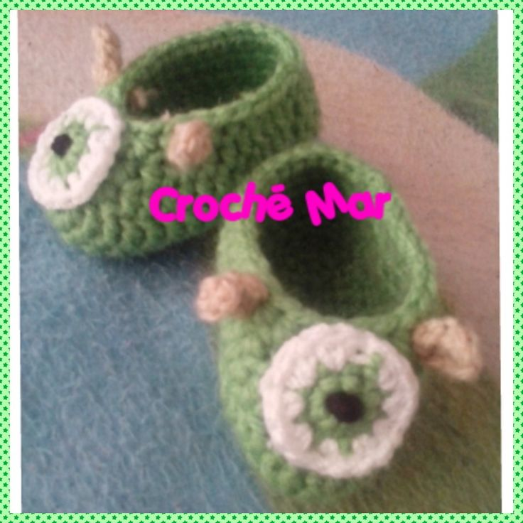 Zapatitos de bebe Monster Inc. Por Croche Mar