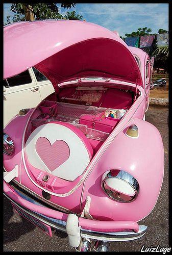 pink vintage vw bug