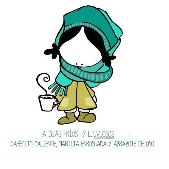 Brrrr... fríoooooo. Me enrollaré una manta, café caliente y... ¡bienvenidos todos los abracitoooos, apapachos y achuchones varios! Eeeegunon mundo!! ::: Hotza+euria+igandea=mantita, kafe beroa eta etxean goxo goxo :::