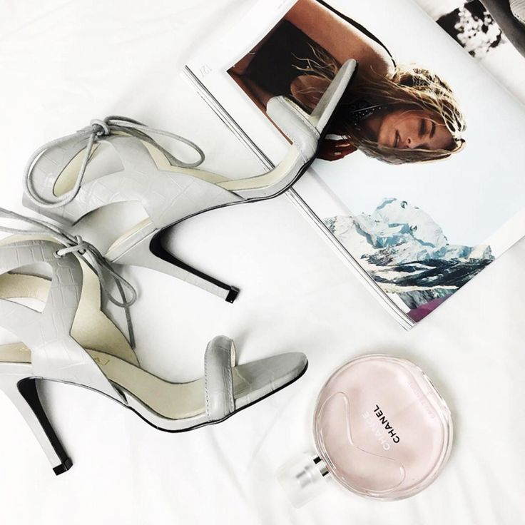 Blogger Jessi Webb with her new fave heels – 'Denver' from Sol Sana. Grey is a great option for those looking for a classic heel with a point of difference!  Image via @jessiwebb.  Shop the heel online at Styletread | Grey | Heels | Sol Sana | Blogger | Chic | Flat Lay | Shoes | Online Shoes | Chanel