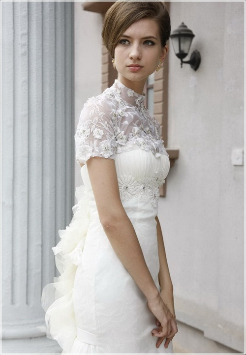 Lacy Mock Turtleneck Elegant Modest Wedding Dress With Train Weddings Pinterest Dresses Dresseodest