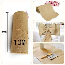 Hessian Fabric Roll Hessian Table Runners Chair Sash Natural Burlap Jute Wedding