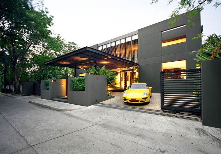 Modern car porch roof design images for Minimalist house roof