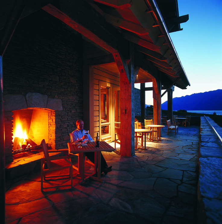 Blanket Bay Terrace. Dine under a clear southern sky.