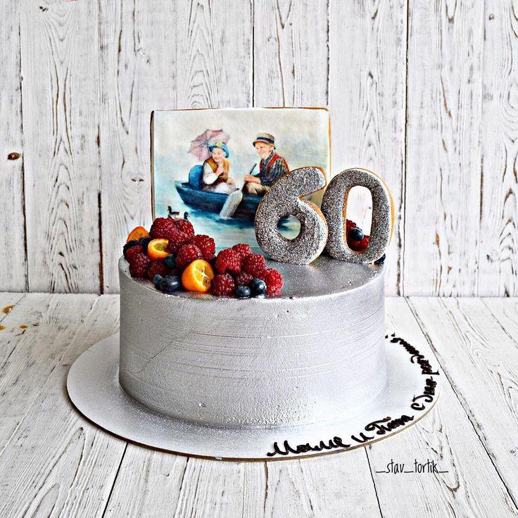 152 отметок «Нравится», 3 комментариев — Анастасия (@_stav_tortik_) в Instagram: «Тортик для мамы и папы в их юбилейный день рождения)) надо же так))внутри нежная молочная девочка,…»