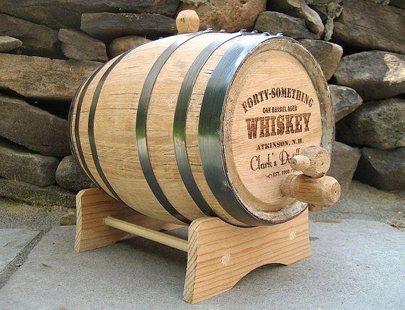 Whiskey Barrel  2 Liter Personalized Mini by SummitEngravingLtd