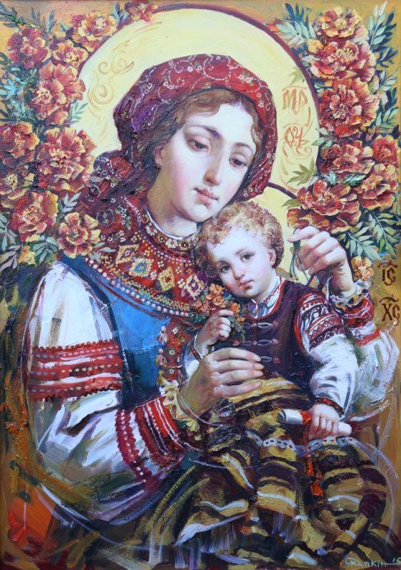 Богородиця у вишиванці. Дивовижні ікони українського живописця Олександра Охапкіна (фото) Благодатна тиша