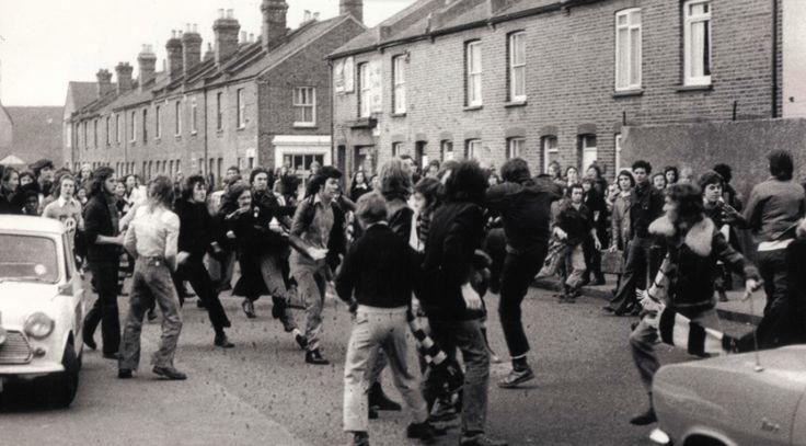 Hooliganism, Leeds, 1970's.