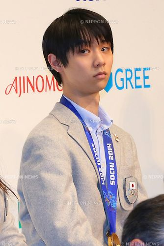 Yuzuru Hanyu (JPN), FEBRUARY 25, 2014 : Japanese Delegation for the 2014 Olympic Winter Games during press conference at Grand Prince Hotel ...