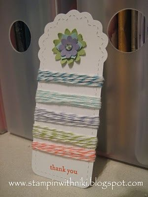 Twine holder - this would make a cute door prize or hostess gift