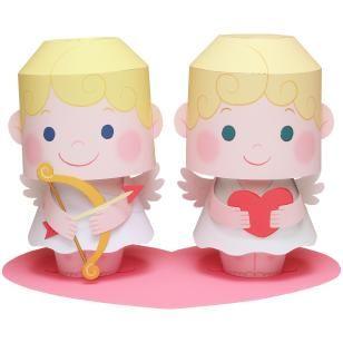 Bellos Cupidos 3D para Imprimir Gratis.