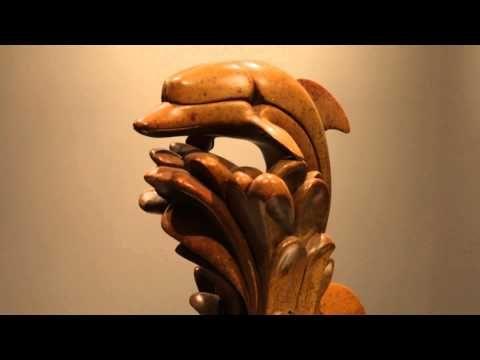 "Soapstone sculpture ""Dolphin"" by the legendary artist Abraham Anghik Ruben"