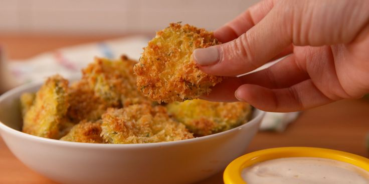 How to Make Oven Fried Pickle Chips Video