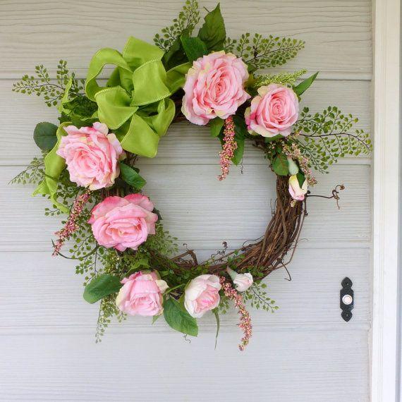 Steeg krans  zomer kransen  bruiloft kransen  elegante roze