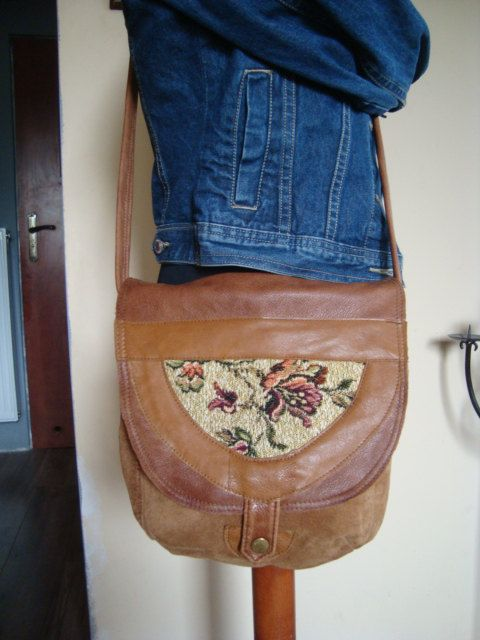 recycled leather bag///summer handbag by BagsBand on Etsy