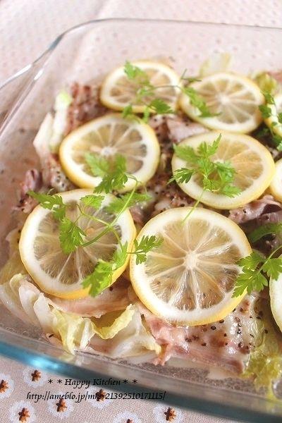 レンジで白菜と豚バラの塩レモン蒸し【連載更新しました】*◯◯◯の ...