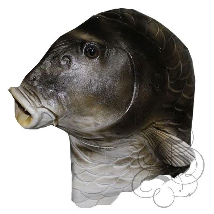 Latex Overhead Realistic Animal Aquatic Fish Fancy Props Carnival Party Mask | eBay