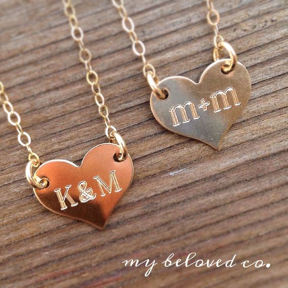 PERSONALIZED HEART NECKLACE heart necklace silver by MyBelovedCo