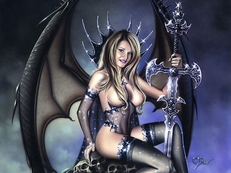 Seductive erotic fantasy girl