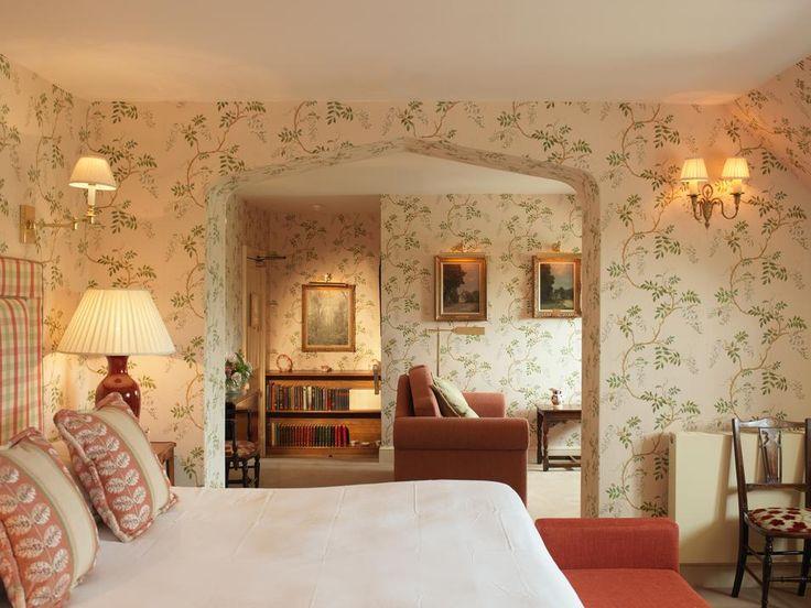 317 besten Wallpapered Interiors Bilder auf Pinterest - englischer landhausstil schlafzimmer