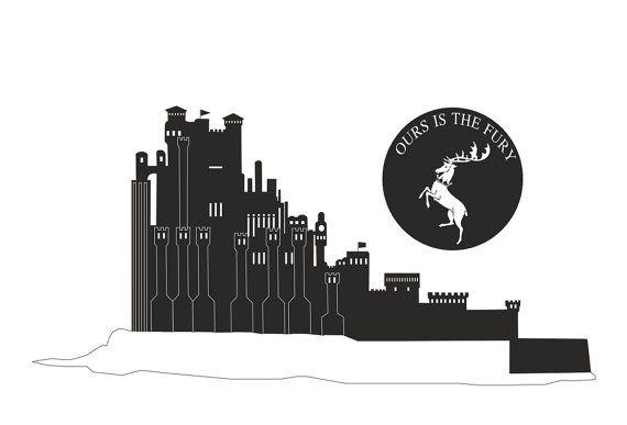 Game of Thrones Kings Landing skyline vinyl wall by cutnpasteshop, $55.00