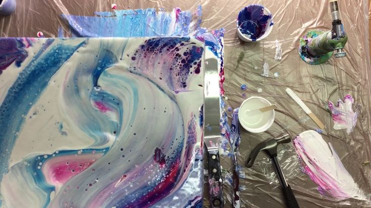 176 Best Images About Acrylics Poured On Pinterest