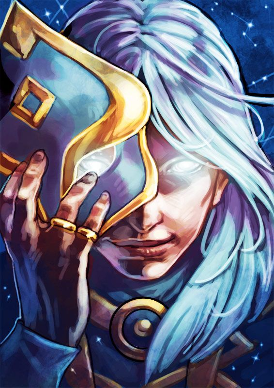 Behind the astral god's mask