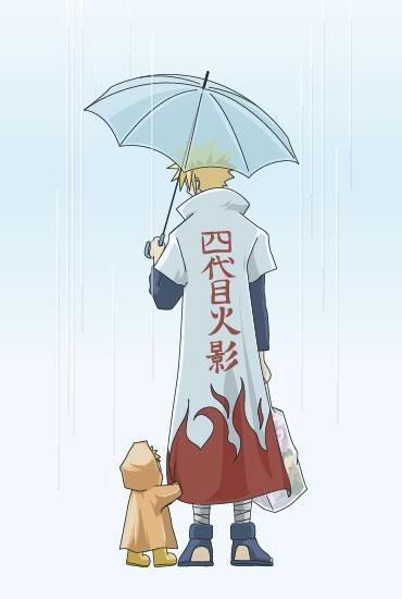 Naruto & Minato This is too cute