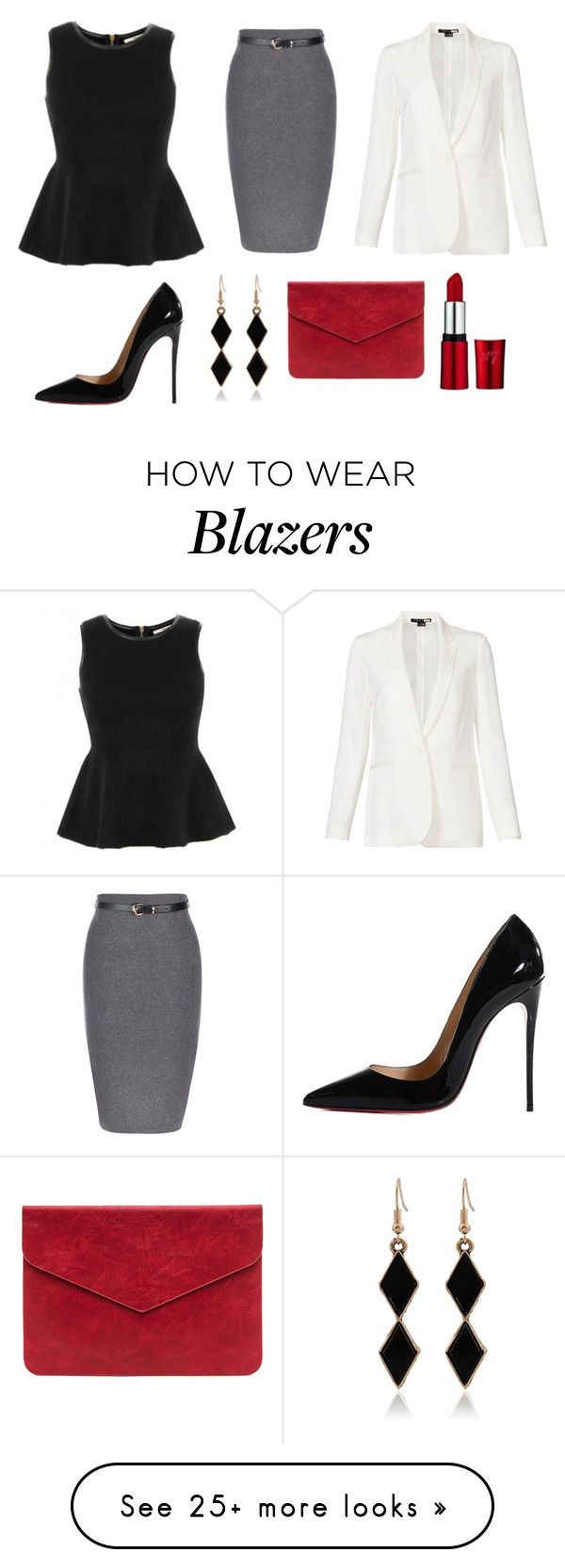 """Untitled #106"" by shytres on Polyvore featuring J Brand, Theory and Christian Louboutin"
