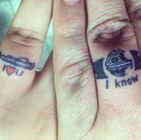 Wedding Ring Tattooshttp://tattoosprint.com/wedding-band-tattoos-for-romantic-couples/