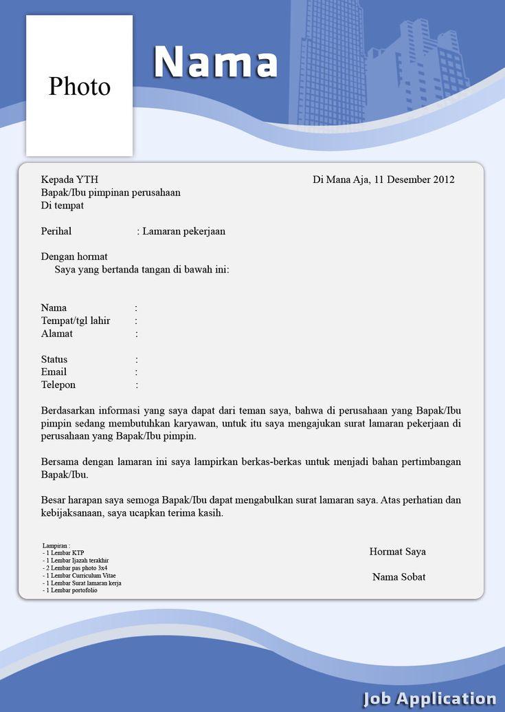 free download surat lamaran kerja dan cv