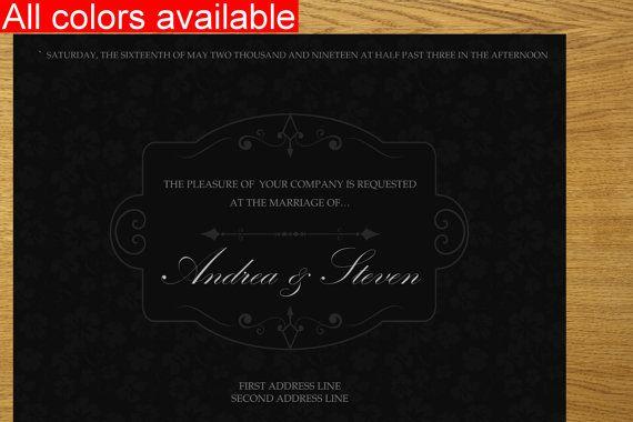Wedding invitation design printable wedding by WeddingTemplatesHub