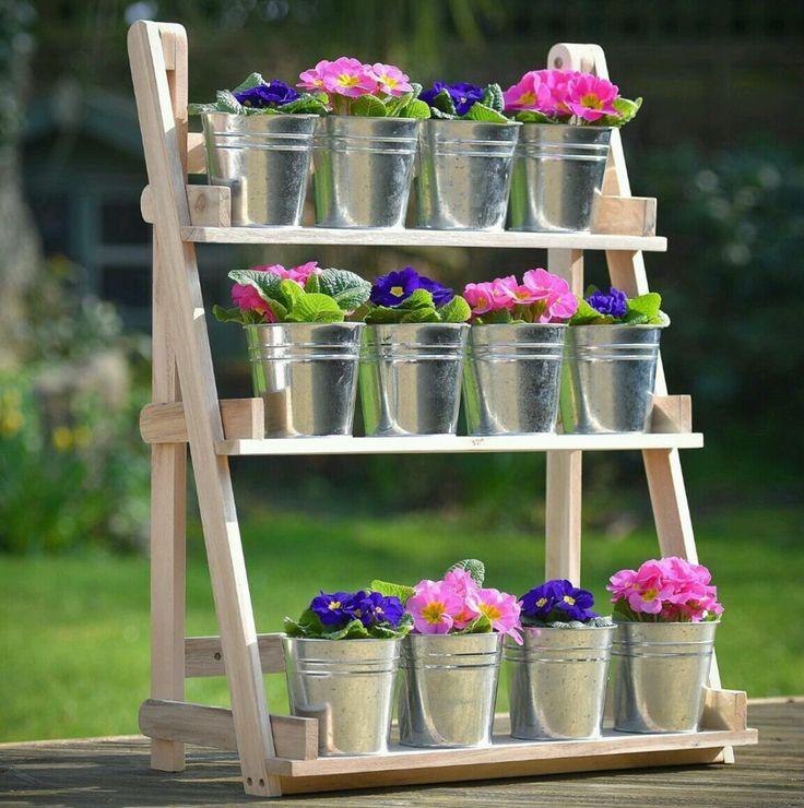 8 Best Wood Plant Shelf Images On Pinterest
