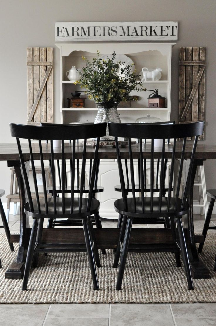 17 Best ideas about Farmhouse Dining Rooms on Pinterest