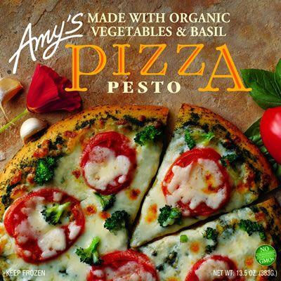 Amy's frozen pesto pizza!!