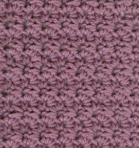 Crochet: Flower stitch. (Note to self: Seems good - easy and fast - for potholders, hot pads, authors says afghan squares and using up scrap yarn).