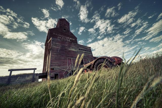 Abandoned Grain Elevator, Saskatchewan, Canada