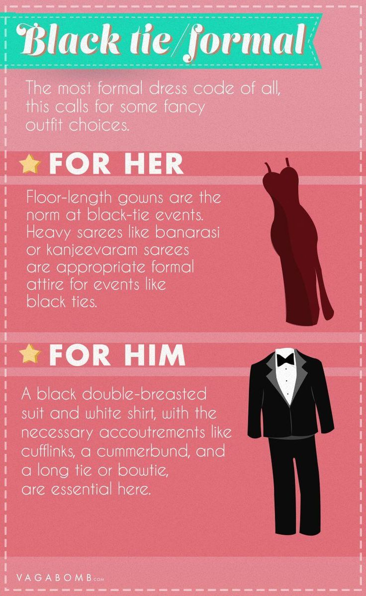Know what to wear and when to wear it.