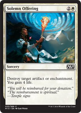 Solemn Offering | Magic: The Gathering Card
