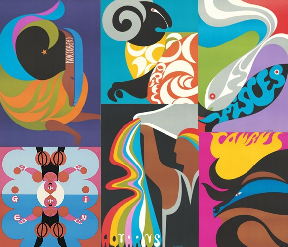 Zodiac Sign PrintZodiac Signs, Signs Post, Prints Design, Signs Prints, Colors Zodiac, Design Possible