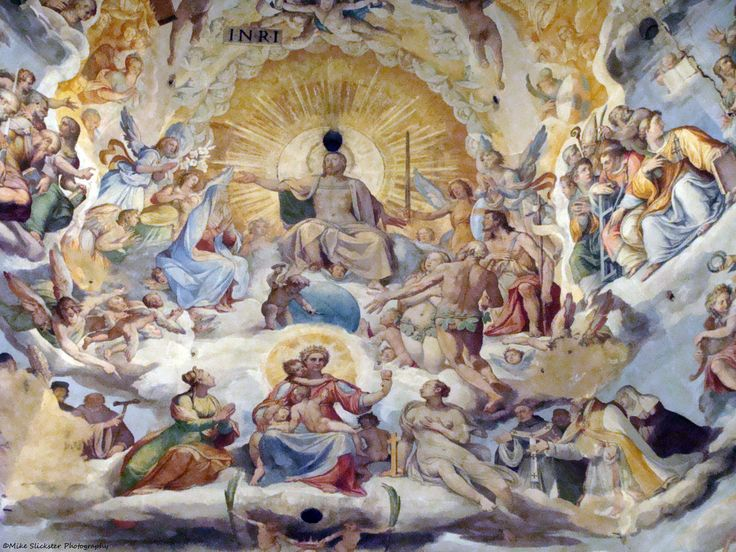 The Last Judgement by  Federico Zuccari, part of the dome's fresco, finished in 1579.