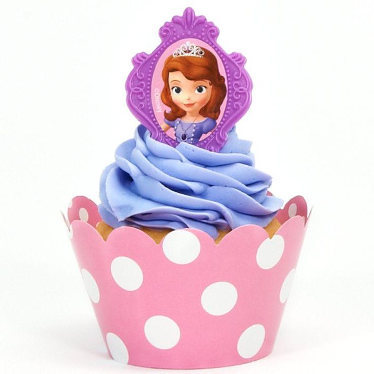 Disney Junior Sofia the First Cupcake Wrapper & Pick Kit