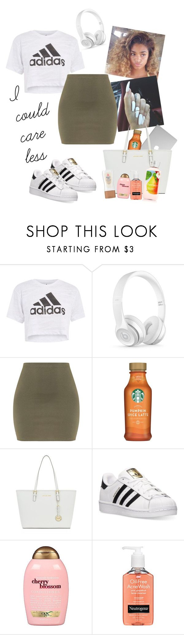 """""""-"""" by pinkdaydream8x on Polyvore featuring Topshop, Beats by Dr. Dre, MICHAEL Michael Kors, adidas, Organix and Neutrogena"""