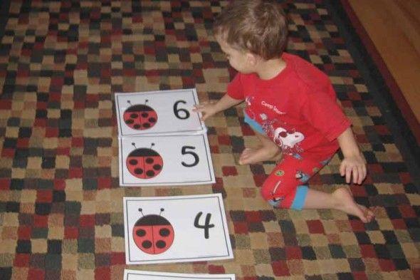 ladybug math 3 the measured mom003 590x393 Ladybug Math for Preschool, Kindergarten & 1st Grade