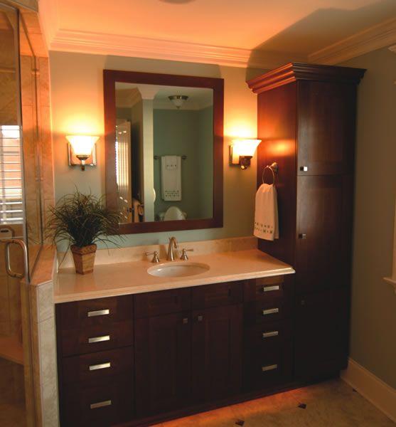 Linen Closet With Vanity