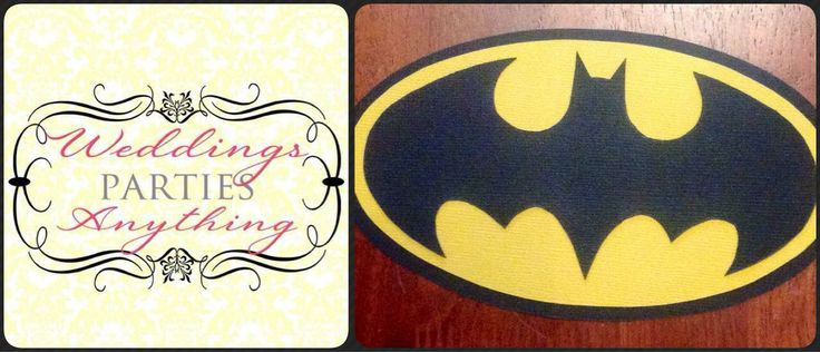 Batman Invitations $2 each  Hand cut and made to order  Invitations can be printed with your party details on the back or they can come ready for you to fill in yourself  There is a 'make time' of up to 14 days on orders so please factor this in when ordering  FREE POSTAGE AUST WIDE www.facebook.com/WeddingsPartiesAnything